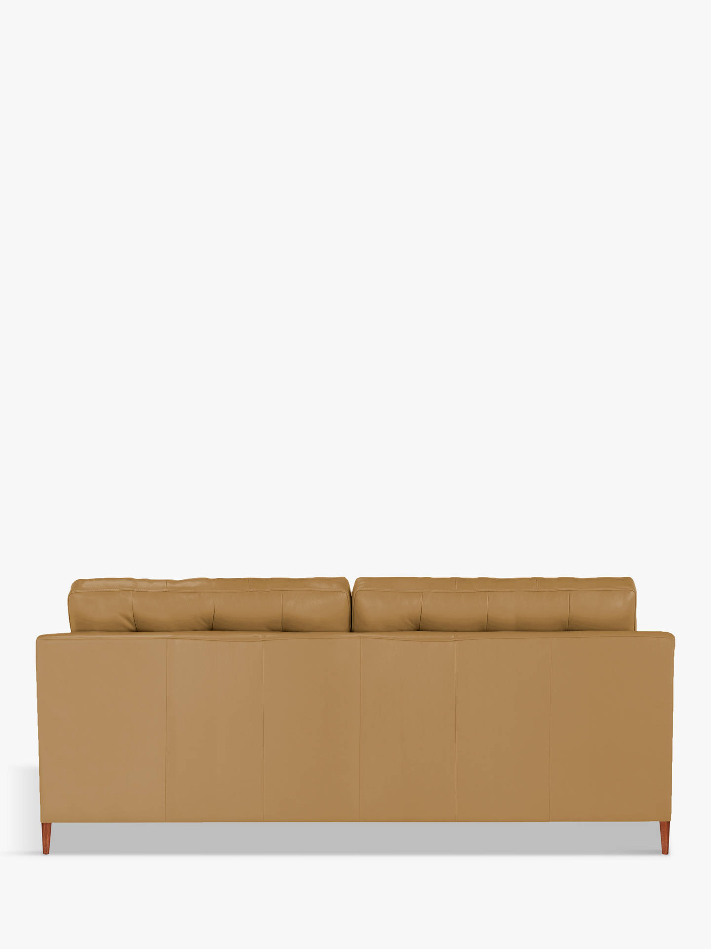 Buy John Lewis & Partners Draper Leather Large 3 Seater Sofa, Dark Leg, Sellvagio Parchment Online at johnlewis.com