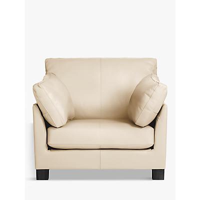 John Lewis Ikon Leather Armchair, Dark Leg