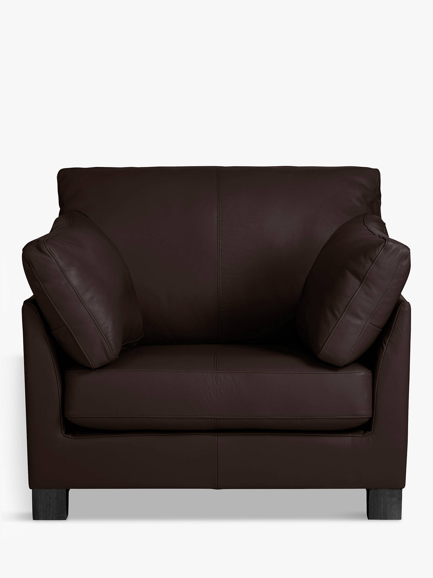 Buy John Lewis & Partners Ikon Leather Armchair, Dark Leg, Demetra Charcoal Online at johnlewis.com
