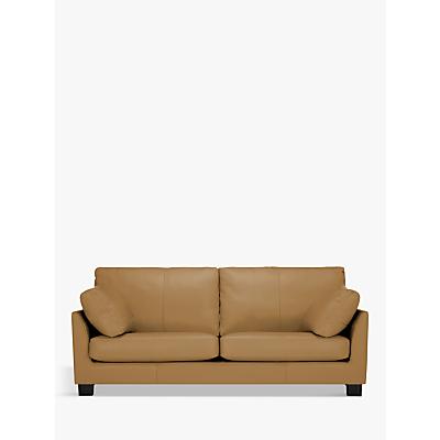 John Lewis & Partners Ikon Grand 4 Seater Leather Sofa, Dark Leg