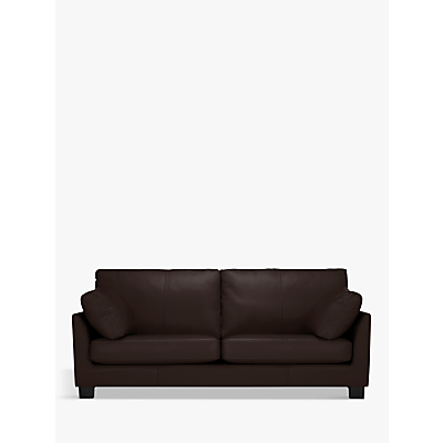 John Lewis Ikon Grand 4 Seater Leather Sofa, Dark Leg