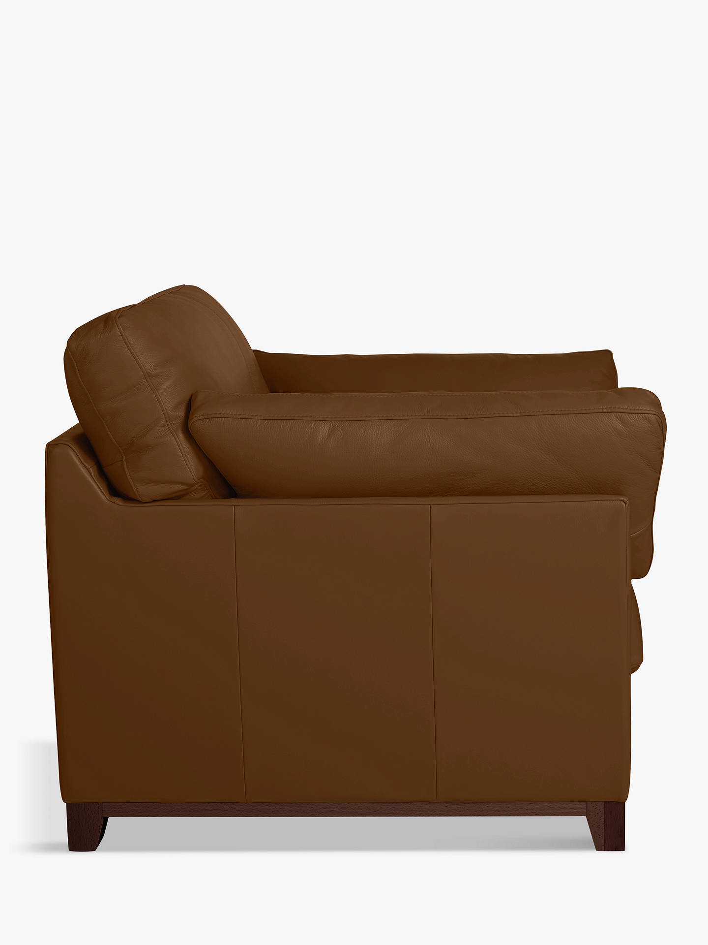 Buy John Lewis & Partners Ikon High Back Leather Snuggler, Dark Leg, Demetra Light Tan Online at johnlewis.com