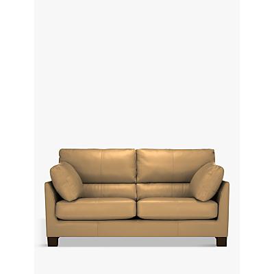 John Lewis Ikon High Back Medium 2 Seater Leather Sofa, Dark Leg