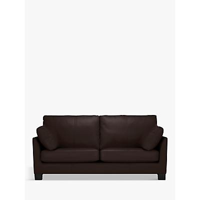 John Lewis & Partners Ikon Large 3 Seater Leather Sofa, Dark Leg