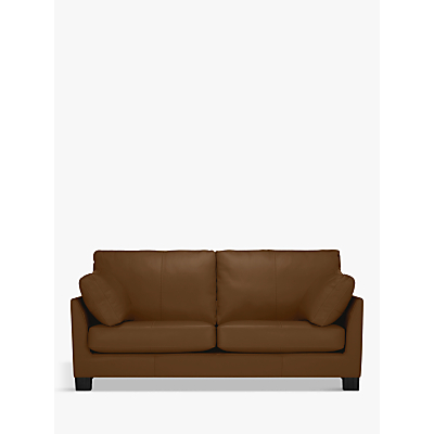 John Lewis Ikon Large 3 Seater Leather Sofa, Dark Leg