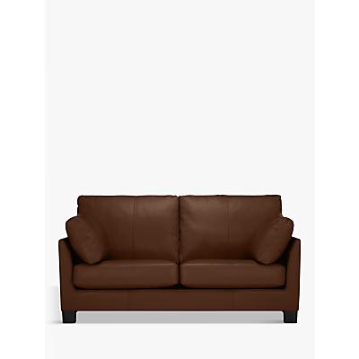 John Lewis Ikon Medium 2 Seater Leather Sofa, Dark Leg