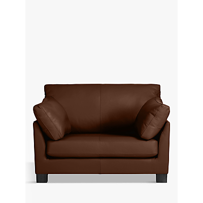 John Lewis Ikon Leather Snuggler, Dark Leg