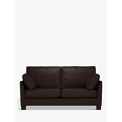 John Lewis Ikon Medium 2 Seater Leather Sofa, Dark Leg