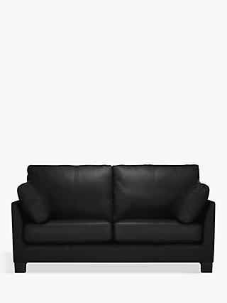 John Lewis & Partners Ikon Medium 2 Seater Leather Sofa, Dark Leg