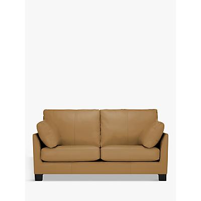 John Lewis & Partners Ikon Medium 2 Seater Leather Sofa, Dark Leg