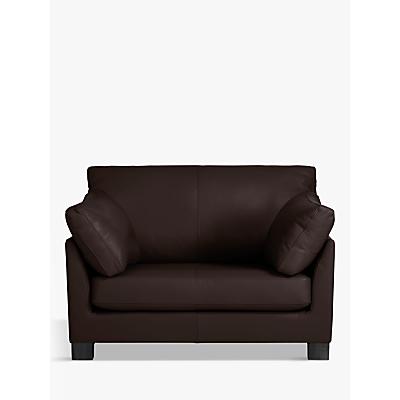 John Lewis Ikon Leather Snuggler, Dark Leg