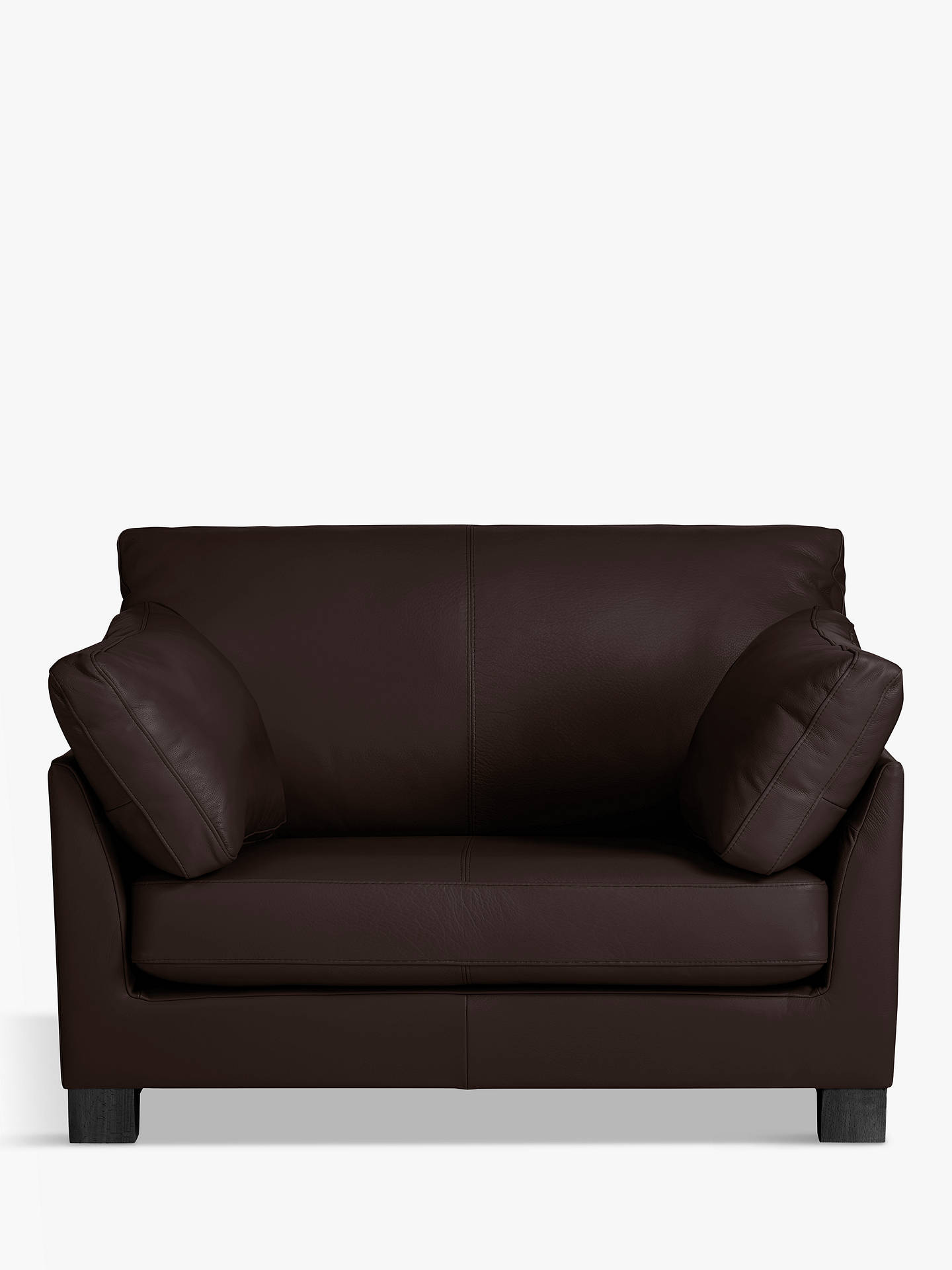 Buy John Lewis & Partners Ikon Leather Snuggler, Dark Leg, Demetra Charcoal Online at johnlewis.com