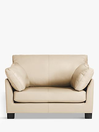 John Lewis & Partners Ikon Leather Snuggler, Dark Leg