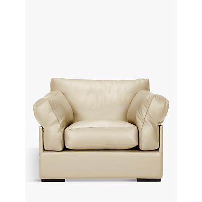 John Lewis Java Leather Armchair, Dark Leg