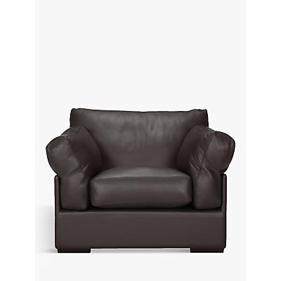 John Lewis & Partners Java Leather Armchair, Dark Leg