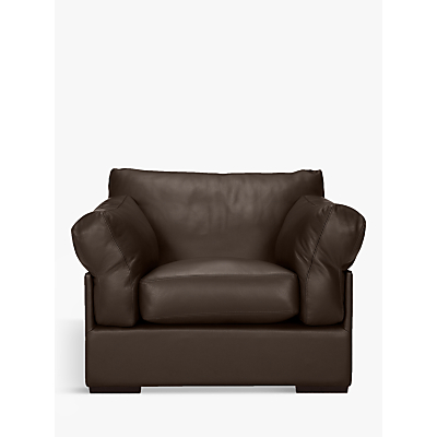 John Lewis Java Leather Armchair, Dark Leg
