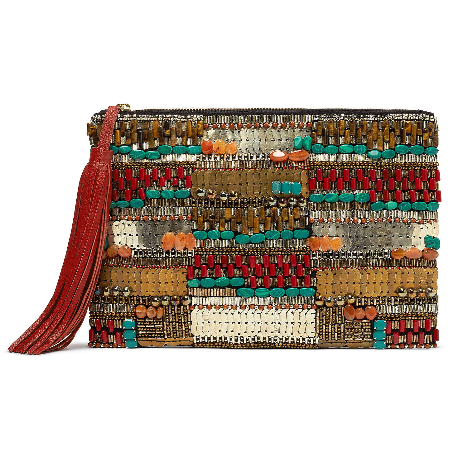 And Or Isabella Beaded Clutch Bag Multi Online At Johnlewis