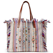 Buy AND/OR Avalon Jewelled Stripe Tote Bag, Multi Online at johnlewis.com
