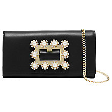 Buy Ted Baker Clairia Leather Embellished Buckle Purse, Black Online at johnlewis.com