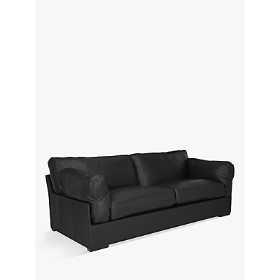 John Lewis Java Grand 4 Seater Leather Sofa, Dark Leg