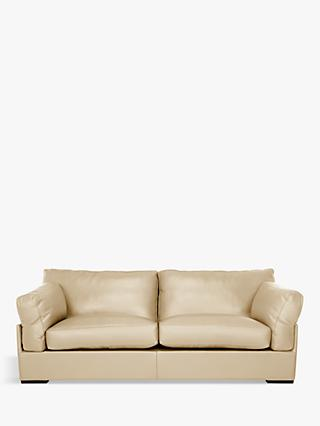John Lewis & Partners Java Grand 4 Seater Leather Sofa, Dark Leg
