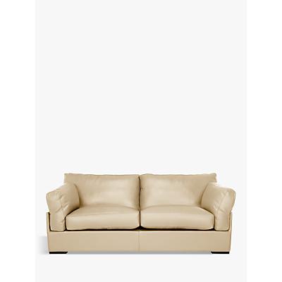 John Lewis & Partners Java Large 3 Seater Leather Sofa, Dark Leg
