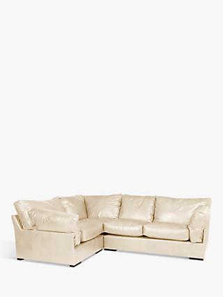 John Lewis & Partners Java LHF Corner Leather Sofa, Dark Leg