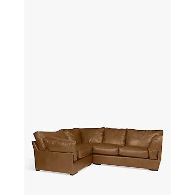 John Lewis Java LHF Corner Leather Sofa, Dark Leg