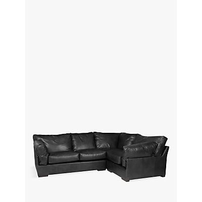 John Lewis Java RHF Leather Corner Group, Dark Leg