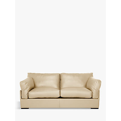 John Lewis Java Medium 2 Seater Leather Sofa, Dark Leg