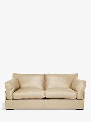 John Lewis & Partners Java Medium 2 Seater Leather Sofa, Dark Leg