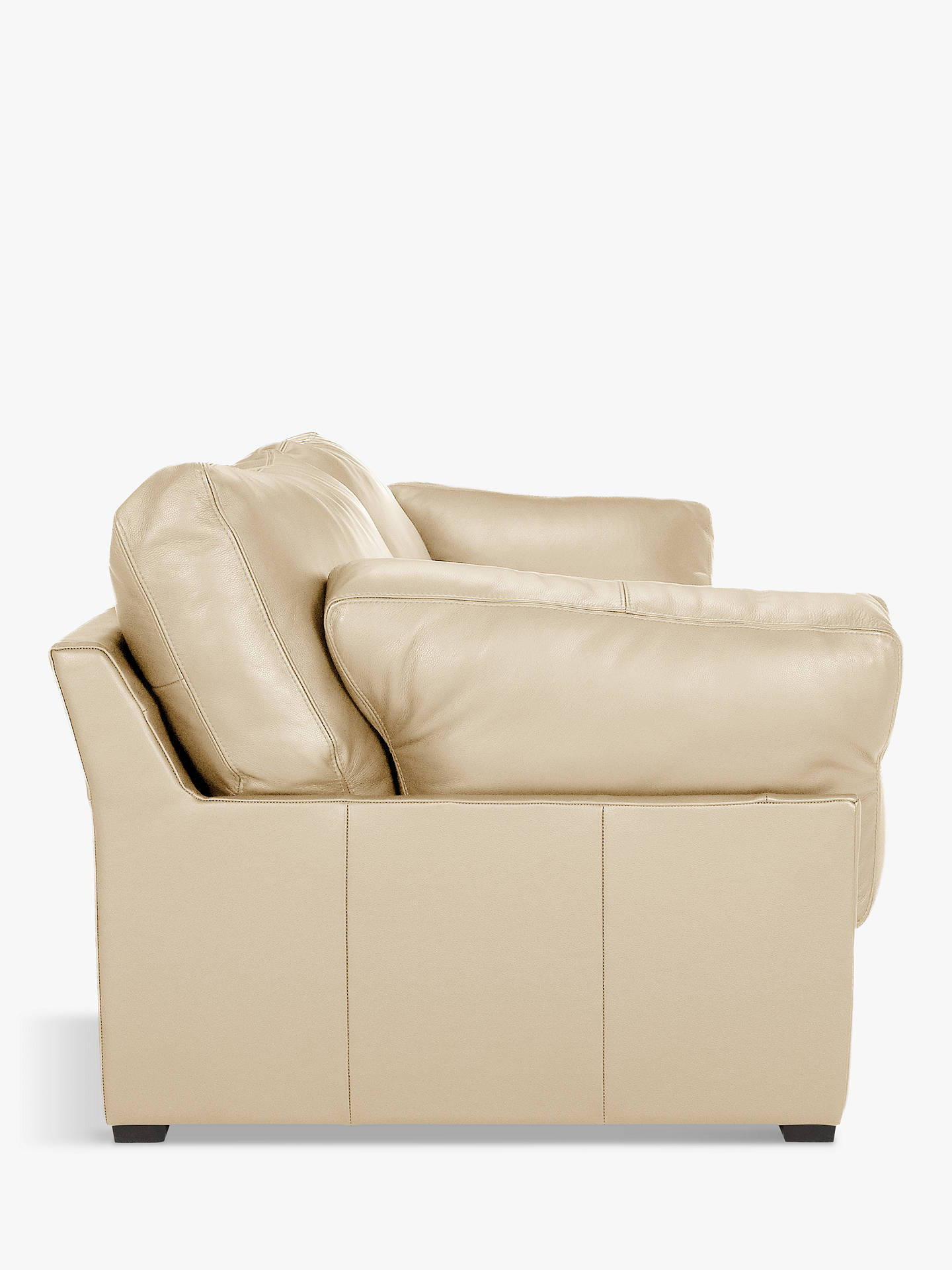 Buy John Lewis & Partners Java Medium 2 Seater Leather Sofa, Dark Leg, Contempo Ivory Online at johnlewis.com