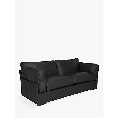 John Lewis & Partners Java Medium 2 Seater Leather Sofa, Dark Leg