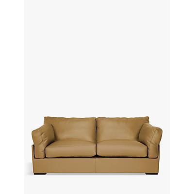 John Lewis Java Medium 2 Seater Leather Sofa, Dark Leg