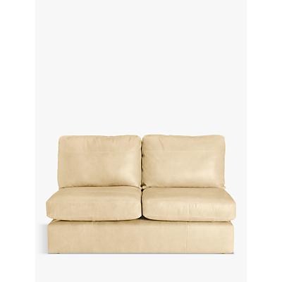 John Lewis Oliver Armless Leather Medium 2 Seater Unit, Dark Leg