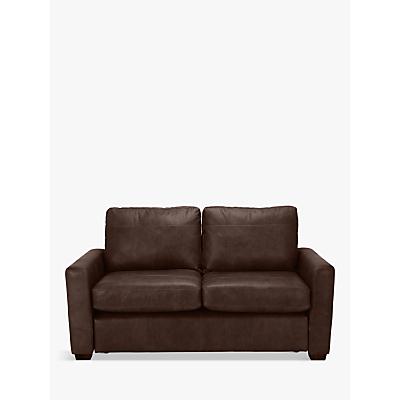 John Lewis & Partners Oliver Leather Small 2 Seater Sofa, Dark Leg
