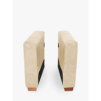 John Lewis Oliver Leather Modular Pair of Arms, Dark Leg