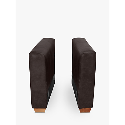 John Lewis Oliver Leather Modular Pair of Arms, Dark Leg