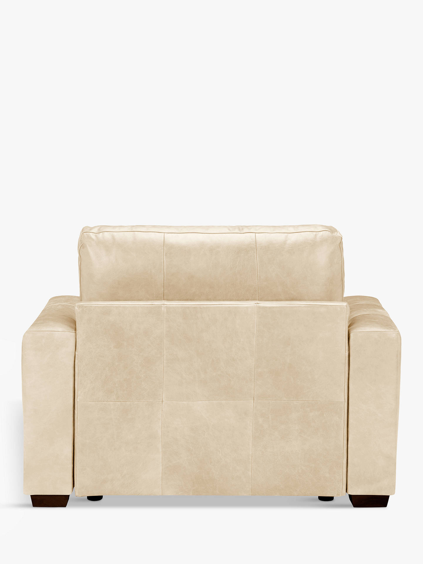 Buy House by John Lewis Oliver Leather Snuggler, Dark Leg, Contempo Ivory Online at johnlewis.com
