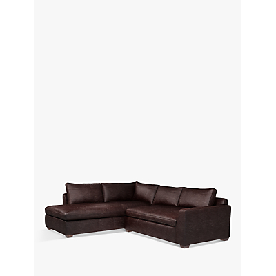 John Lewis & Partners Tortona Leather RHF Chaise End Sofa