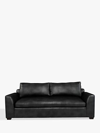 John Lewis & Partners Tortona Leather Large 3 Seater Sofa