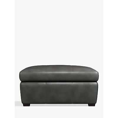 John Lewis Tortona Leather Footstool