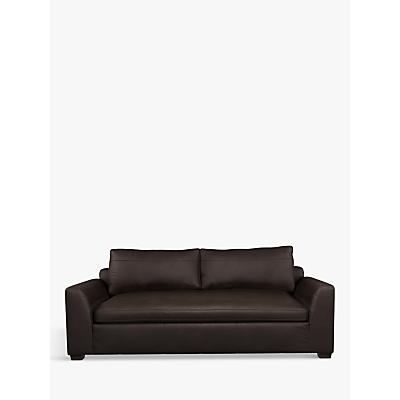 John Lewis Tortona Leather Large 3 Seater Sofa