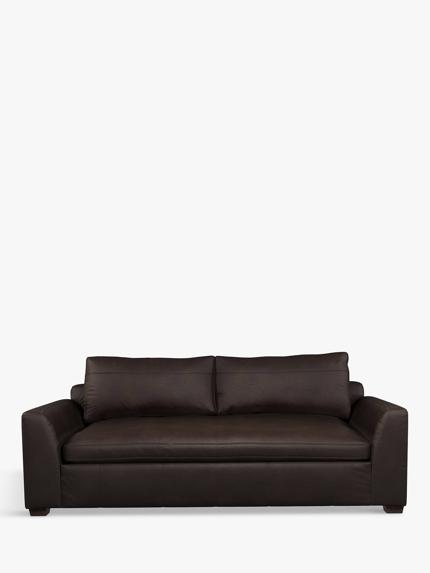Buy John Lewis & Partners Tortona Leather Large 3 Seater Sofa, Demetra Charcoal Online at johnlewis.com