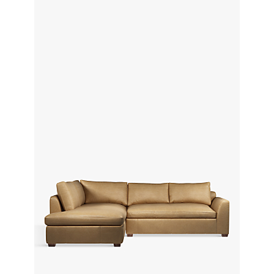 John Lewis Tortona Leather LHF Chaise End Sofa