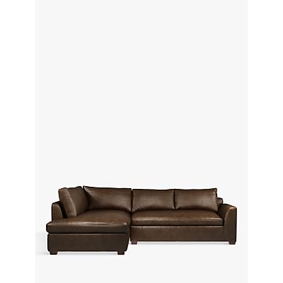 John Lewis Tortona Leather LHF Chaise End Sofa