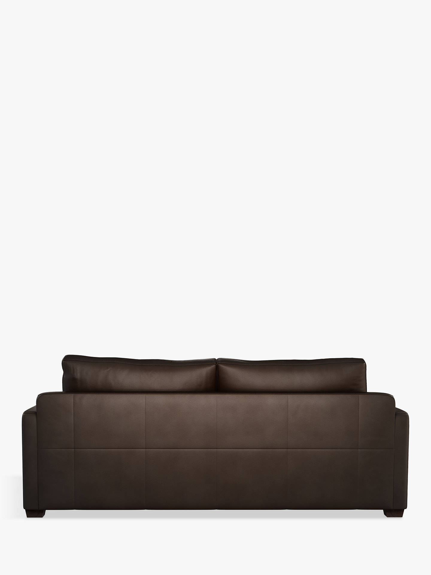 Buy John Lewis & Partners Tortona Leather Large 3 Seater Sofa, Nature Brown Online at johnlewis.com
