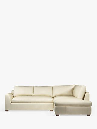 John Lewis & Partners Tortona Leather RHF Chaise End Sofa