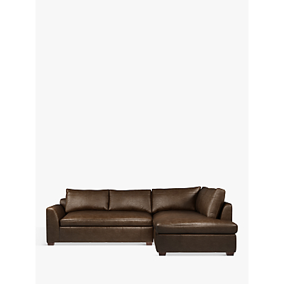 John Lewis Tortona Leather RHF Chaise End Sofa