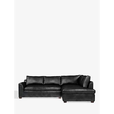 John Lewis Tortona Leather RHF Chaise End Sofa